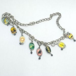 Jewelry - Vintage Charm Choker with 8 Charms, Dog Cat Travel